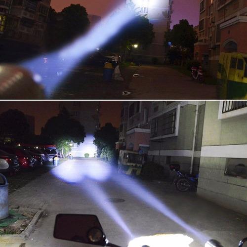 2 faros led cree laser moto coche u2 auxiliar universal lupa