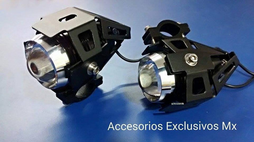 2 faros led motocicleta universal cree u5 foco auxiliar expl