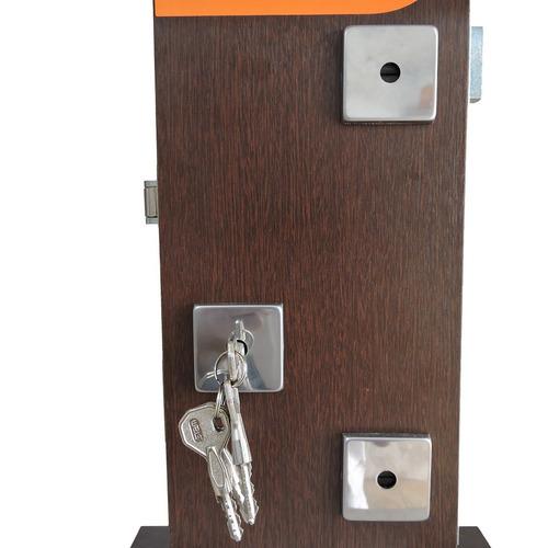 2 fechadura tetrakit pivotante rolete roseta quadrada stam