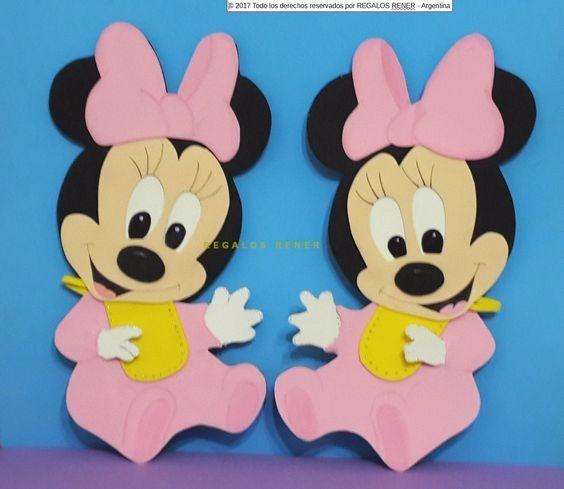 2 Figuras Minnie Bebe En Goma Eva De 30 Cm Entrego Ya 12500 En - Bebe-de-goma-eva