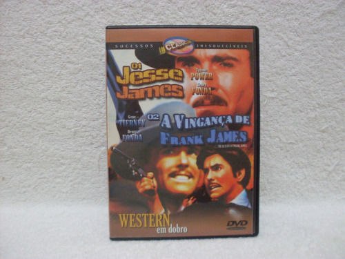 2 filmes em 1 dvd jesse james & a vingança de frank james