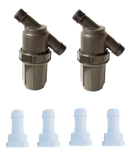 2 filtros 1 pulgada malla mas 4 conexiones