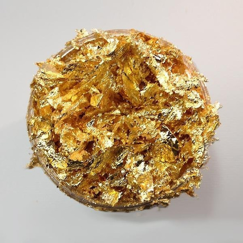 2 flakes hojas oro plata o cobre hojuela arte manual inst
