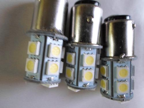 2 foco led 1157 estrobo blancoflash frenos alta potencia 12v