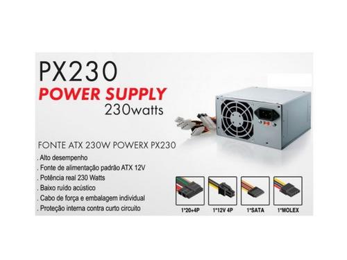 2 fontes atx 230w real 450w powerx 12 meses nota fiscal nova