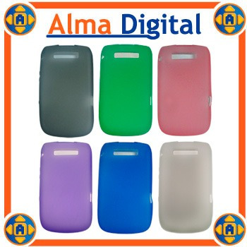 2 forro silicon blackberry torch 9800 estuche protector goma