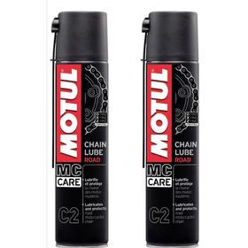 2 Frascos Motul C2 Chain Lube 400ml-spray Corrente