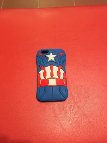 2 fundas iphone 5, 5 se y 5s capitan america y iron man