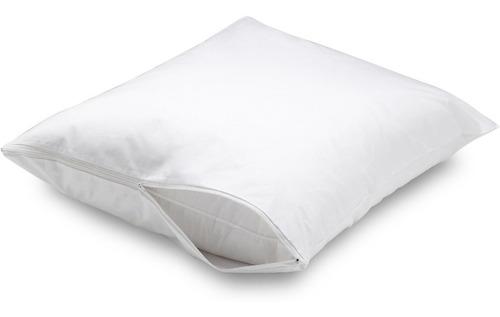 2 fundas para almohada king size anti-ácaros con cierre