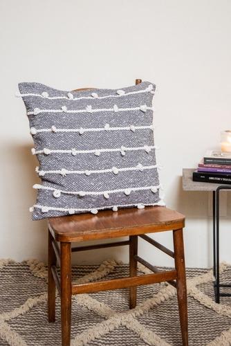 2 fundas para cojín de 45x45 gris palomita blanca - algodón