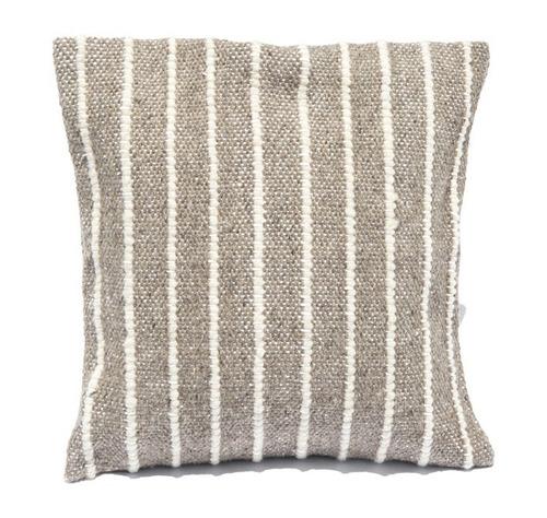 2 fundas para cojín de 50x50 gris, raya blanca