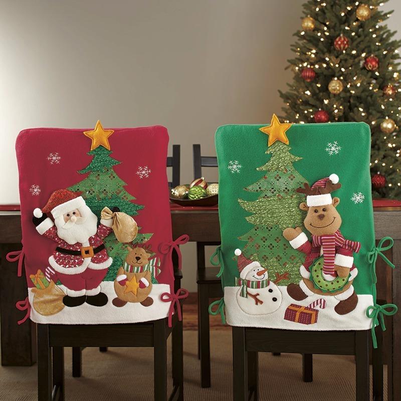 Fundas navide as para sillas del comedor casa dise o - Adornos navidenos para sillas ...