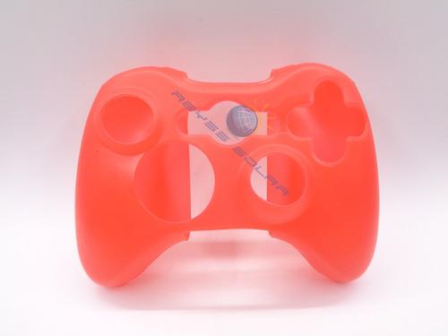 2 fundas silicon rojo para control xbox 360 y 4 grips