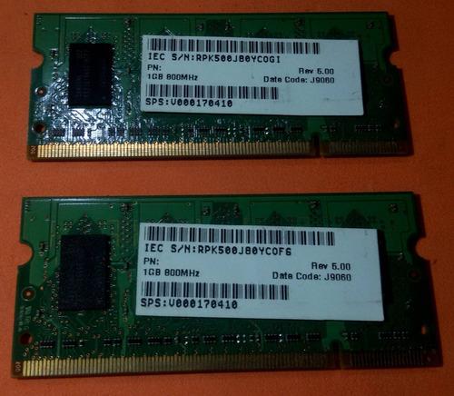 2 gb ddr2 netbook notebook macbook ( 2 x 1 gb ) samsung 800