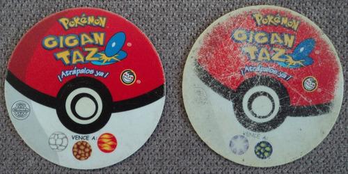 2 gigan tazos pokemon