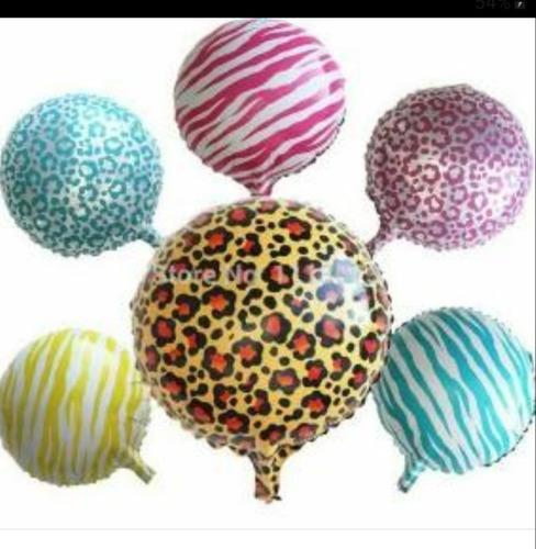 2 globos metalizado-metalicos print-lunares-chupeta polka