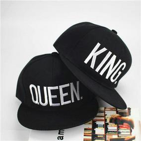 090e926b0231 2 Gorras Planas Vinilo Textil - King Queen (20mil C/u)