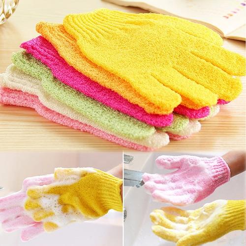 2 guantes exfoliantes para spa corporal o facial