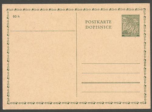 2° guerra 1940 postkarte ocupacion bohemia y morava - 456