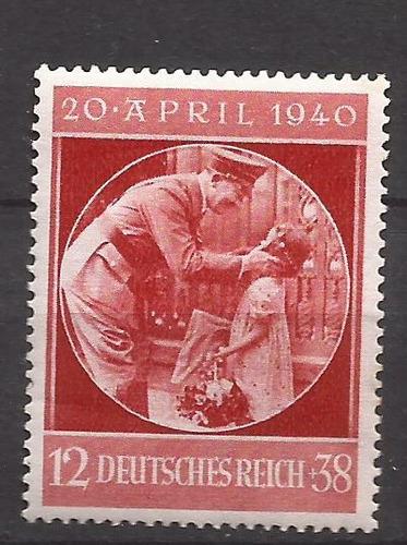 2º guerra alemania 1940 un sello del fuhrer mint 13 u$d
