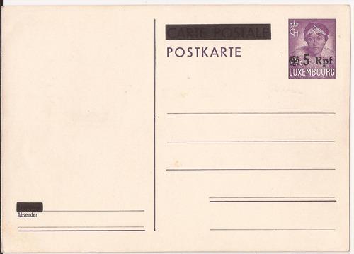 2° guerra alemania 1941 postkarte  ocupacion luxemburg - 235