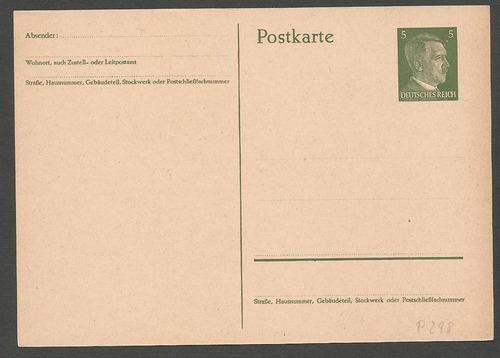2º guerra alemania 1942 postkarte del fuhrer - 461