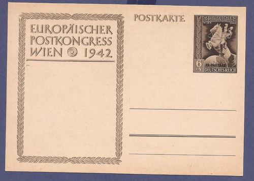 2º guerra alemania 1942 postkarte nueva 19 octubre