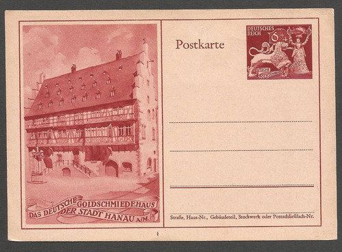 2º guerra  alemania postkarte nueva hanau - 181
