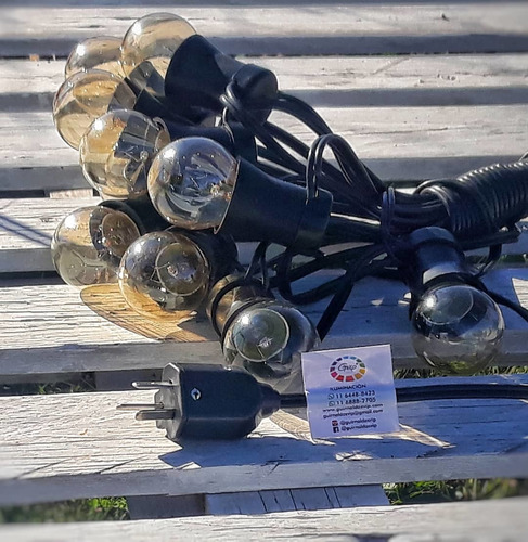 2 guirnaldas kermesse de 10 mts + 20 focos vintage