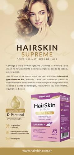 2 hair skin & nails supreme d-pantenol 5000mcg 60 cápsulas