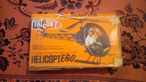2 helicópteros falcon preto e amarelo anos 80 com caixa