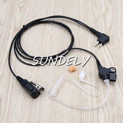 2 hilos seguridad vigilancia kit auricular auricular radio m