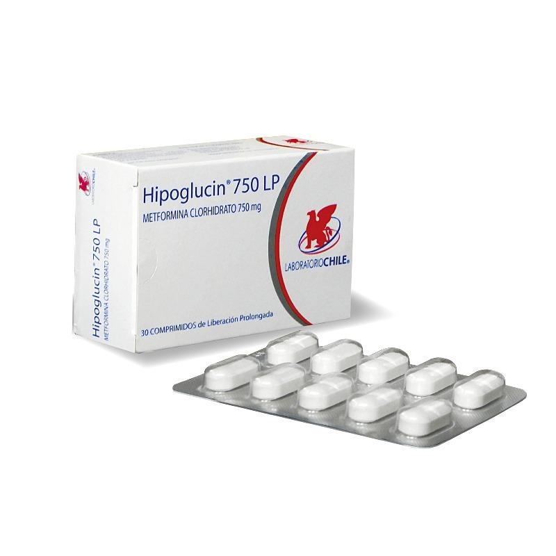 2 Hipoglucin Lp 750 Mg Metformina Comprimidos - Envio Gratis ...