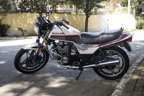 2 honda cb/honda cb400 1982 preta/honda cb450 tr 1987 branca