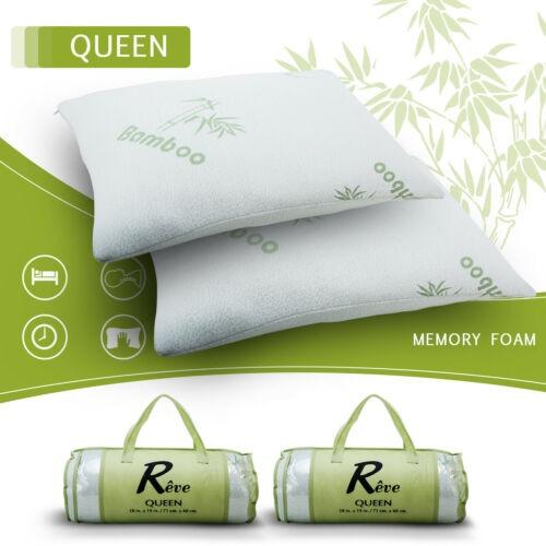 2 Paquetes Almohadas De Cama De Espuma De Memoria Hipoalergenico King Size Nuevo