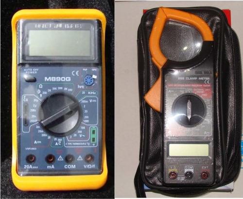 2 instrumentos 1 pinza amperométrica + 1 tester envio gratis