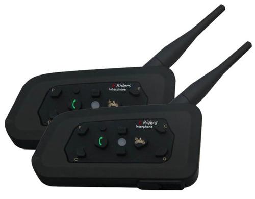 2 intercomunicadores lexin lx-r6 1200m bt gps aux 120km/h