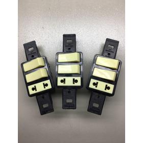 2 Interruptor  + Tomada  Antiga Pial Silentoque  Kit 3 Peças