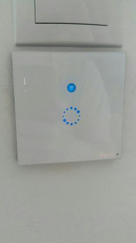 2 interruptor wifi ip touch switch cristal smart home hogar