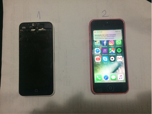2 iphone 5c - 32gb (para repuestos o reparar)