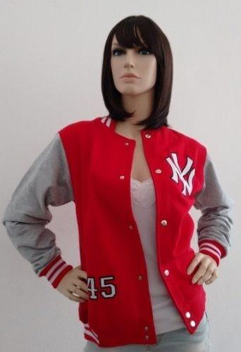2 Jaqueta Feminina College Moletom Baseball - R  199 9a7c28a8d24f1