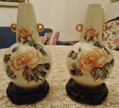 2 jarrones de porcelana tsuji