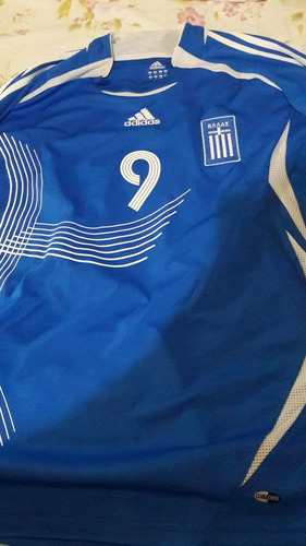 2 jersey grecia soccer jersey talla xl #9