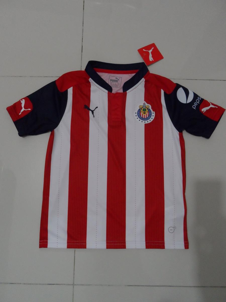 2 Jerseys De Las Chivas Original Para Niño Envío Gratis -   550.00 ... 777790376596e