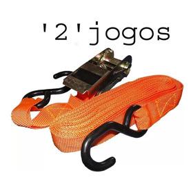 2 Jgs Cinta Catraca Com Amarraçao D Carga 800kg Moto Jet Ski