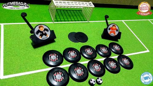 2 jogos / kits futebol de botão corinthians x palmeiras