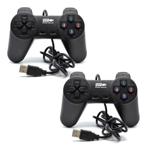 2 joystick control gamepad usb pc notebook envio gratis