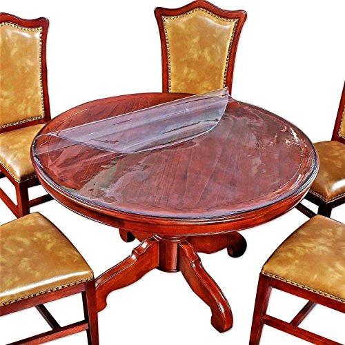 2 juego de cubierta protectora de mesa redonda plástico tran