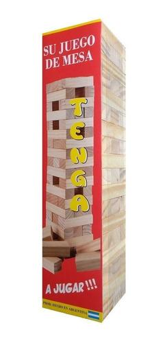 2 juegos de mesa jenga 54 pzs yenga tenga torre diverti toys