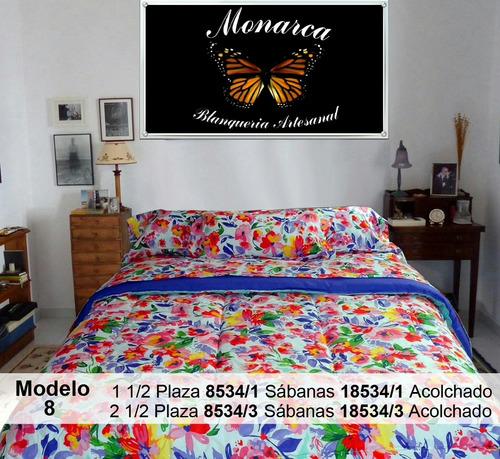 2 juegos de sabanas monarca microfibra estampada 1 1/2 pza